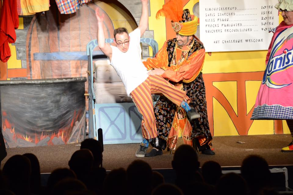 Wishy Washy shows off on stage during the 2016 production of Aladdin